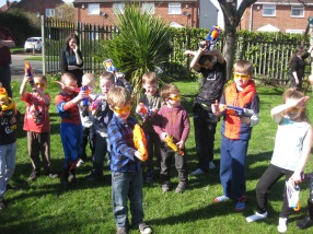 Nerf Party. Nerf Parties Leeds, Nerf Party in Bramley Nerf War Bramley 1