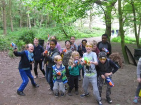 Nerf Parties Leeds at Nerf War at Meanwood Park, North Leeds Nerf War, Leeds 1