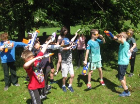 Nerf Parties Leeds at Nerf War at Kirkstall, West Yorkshire Wakefield Nerf War in Leeds 10