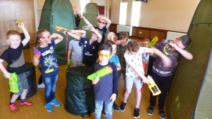 Nerf Party Nerf War near Leeds by Nerf Parties Leeds. Yorkshire Nerf Party ideas and team building Nerf gun party ideas east Leeds and Nerf gun games at indoor nerf party near Crossgates