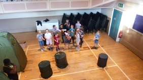 Nerf Party Nerf War near Otley by Nerf Parties Leeds. West Yorkshire Nerf Party ideas and team building Nerf gun party ideas and Nerf gun games at indoor Nerf war near Bradford including